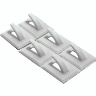 ProSource PH-122298-3L Mintcraft Adhesive Backed Plastic White Utility Hook Card Of 6