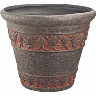 Landscapers Select PT-005 Planter Round Aged Bronze 16In