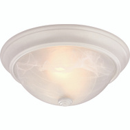 ProSource 41800-WH Boston Harbor Dimmable 2 Light 120 Watt Ceiling Fixtures 13 By 5-1/2 Inch White 2 Pack