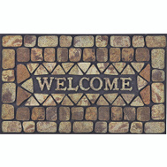 HomeBasix DM-183006 Rubber Door Mat 30 By 18 Inch Flocking Elegant Aesthetic Design