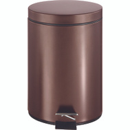 HomeBasix LYP0701 Trash Can Step Round 7 Liter Venetian Bronze