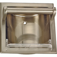 Boston Harbor 770H-07-SOU Manhattan Recessed Soap Dish With Grab Bar Brushed Nickel