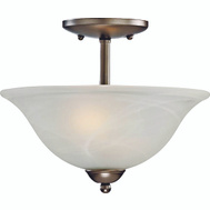 Boston Harbor A2242-2-VB Fixture Ceil 2Lt Semi-Flush Vb
