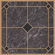 ProSource CL2002 Vinyl Floor Tile Blue/Gold (Carton Of 45)