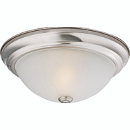 ProSource F51WH02-1006-BN Boston Harbor Dimmable 2 Light 120 Watt Ceiling Fixtures 13 By 5-1/2 Inch Brushed Nickel 2 Pack