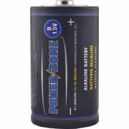 Power Zone LR20-4P-DB Battery Alkaline Card/4 1.5V D 4 Pack
