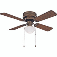 Boston Harbor CF-78125-ORB Hugger Ceiling Fan 1 Light Venetian Bronze 42 Inch