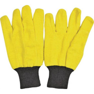 DiamondBack JS202Y Yellow Chore Gloves Value Pack 10 Pair Large