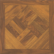 ProSource ELE-1811-1-3L Vinyl Floor Tile Dark Wood Geo (Carton Of 45)