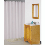Simple Spaces XG-02-WH Shwr Curtn Hooklss 70X72 White