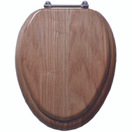 ProSource T-19WO-3L-C Toilet Seat Elongated Natural Oak Finish 19 Inch