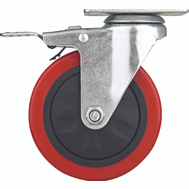 ProSource JC-388-G 5 Inch Swivel Caster With Brake Polyurethane Wheel