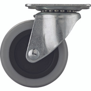 ProSource JC-N04-G 3 Inch Thermo-Plastic Rubber Swivel Plate Caster
