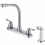 Boston Harbor F8F10036CP Kitchen Faucet Chrome With White Side Spray 2 Handle 8 Inch Centers