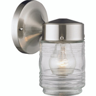 Boston Harbor 4402H-BN Light Jelly Jar Satin Nickel