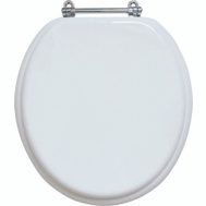 ProSource T-17WMC Toilet Seat Std 17In Wht/Chrm