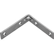 ProSource CB-B025-C4PS Corner Braces 2-1/2 By 5/8 Inch Zinc Plated Steel 4 Pack
