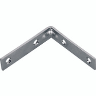 ProSource CB-S015-C4PS Corner Braces 1-1/2 By 1/2 Inch Satin Brass On Steel 4 Pack