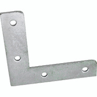 ProSource FC-Z015-C4PS Flat Corner Braces 1-1/2 By 3/8 Inch Zinc Plated Steel 4 Pack