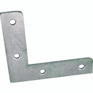 ProSource FC-Z02-C4PS Flat Corner Braces 2 By 3/8 Inch Zinc Plated Steel 4 Pack