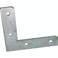 ProSource FC-Z025-C4PS Flat Corner Braces 2-1/2 By 1/2 Inch Zinc Plated Steel 4 Pack