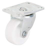 ProSource JC-B03-PS Plate Caster 1-1/4 Inch Zinc White 4 Pack