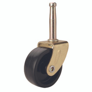ProSource JC-B06-PS Swivel Stem Light Duty Caster 1-1/4 Inch Brass And Black 4 Pack