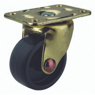 ProSource JC-B10-PS Plate Caster 1-5/8 Inch Brass And Black 4 Pack