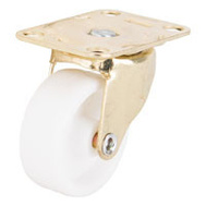 ProSource JC-B12-PS Plate Caster 1-5/8 Inch Brass And White 4 Pack