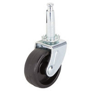 ProSource JC-B13-PS Swivel Stem Light Duty Caster 1-5/8 Inch Zinc And Black 4 Pack