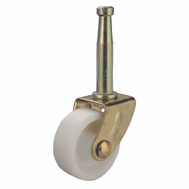 ProSource JC-B16-PS Swivel Stem Light Duty Caster 1-5/8 Inch Brass And White 4 Pack