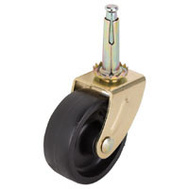 ProSource JC-B23-PS Stem Caster Swivel 2 Inch Brass And Black 2 Pack
