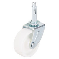 ProSource JC-B24-PS Stem Caster Swivel 2 Inch Zinc And White 2 Pack