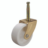 ProSource JC-B25-PS Stem Caster Swivel 2 Inch Brass And White 2 Pack