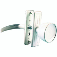 ProSource 47035-UW-PS Storm And Screen Door Latch Lever White