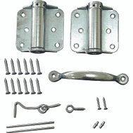 ProSource LR-114-ZP-PS Storm And Screen Door Hinge Set Adjustable Zinc