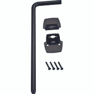 ProSource 33182PKS-PS Cane Bolt Steel 1/2 By 18 Inch Black