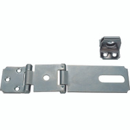 ProSource LR-136-BC3L-PS Safety Double Hinge Hasp 3-1/2 Inch Zinc Plated Steel