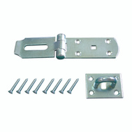 ProSource LR-137-BC3L-PS Hinge Hasp Heavy Duty 4 By 1-3/4 Inch Zinc Plated Steel