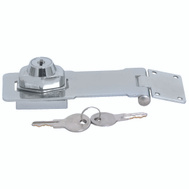 ProSource 807356-BC3L-PS Keyed Safety Hasp 4-1/2 Inch Chrome