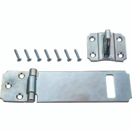 ProSource LR-123-BC3L-PS Safety Hasp Adjustable 3-1/2 Inch Zinc Plated Steel