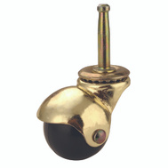 ProSource JC-E02-PS Hooded Stem Casters 1-5/8 Brass 2 Pack