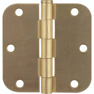 ProSource BH-BR01-PS Door Hinge 1/4 Radius 3 By 3 Inch Satin Brass