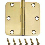 ProSource BH-BR21B-PS Door Hinge 5/8 Radius 3-1/2 By 3-1/2 Inch Bright Brass