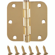 ProSource BH-102PB-PS Door Hinge 5/8 Radius 3-1/2 By 3-1/2 Inch Bright Brass
