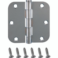 ProSource BH-102CH-PS Door Hinges 5/8 Radius 3-1/2 By 3-1/2 Inch Bright Chrome 2 Pack
