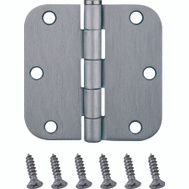 ProSource BH-102SC-PS Door Hinges 5/8 Radius 3-1/2 By 3-1/2 Inch Satin Chrome 2 Pack