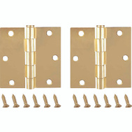 ProSource BH-202SB-PS Door Hinges Square 3-1/2 By 3-1/2 Inch Satin Brass 2 Pack