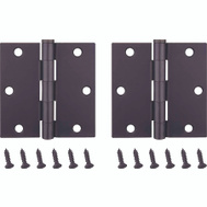 ProSource BH-202ORB-PS Door Hinges Square 3-1/2 By 3-1/2 Inch Oil Rubbed Bronze 2 Pack