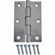 ProSource LR-051-PS Utility Hinge Square Corner Zinc Plated 3 By 2 Inch 2 Pack